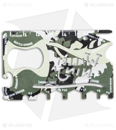 Wallet Ninja 18 in 1 Credit Card Multi Tool - Camo
