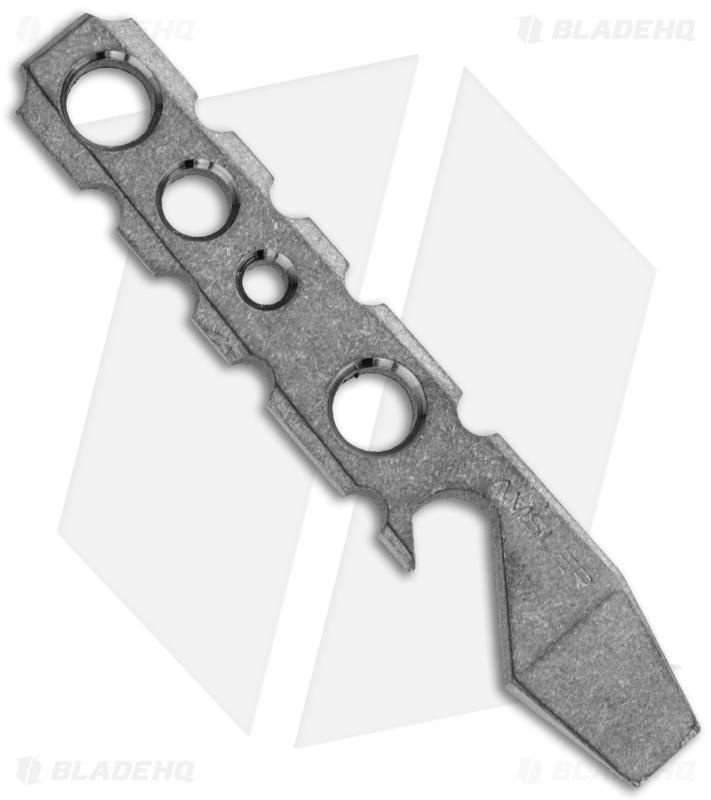 Amsler Knives PKT Pocket Wedge Titanium Pry Bar Bottle Opener (Raw)