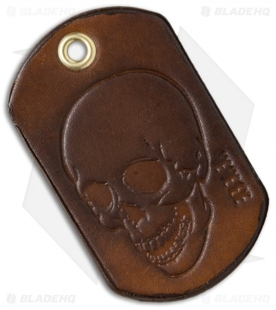 "Bad Love Leather 2.5"" Brown Dog Tag"