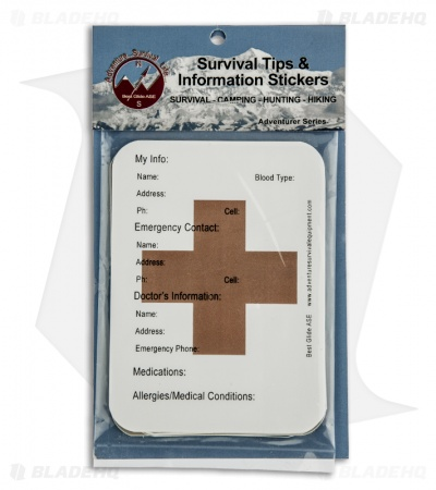 Best Glide ASE Survival Tips and Information Stickers SURVSTIC