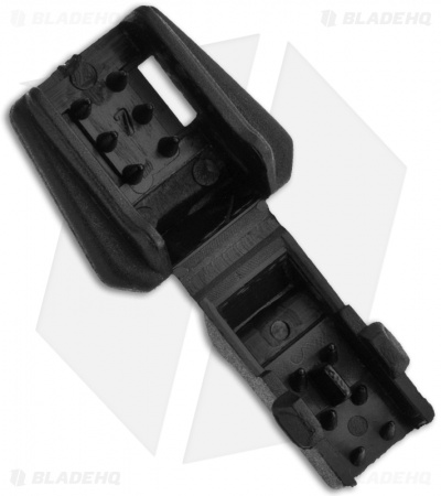 "Zipper Pull Black Plastic Cord End (1/4"" x 1/8"") Pack of 5"