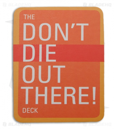 The Don't Die Out There Deck Survival Facts (56 Playing Cards)