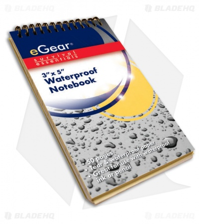 "eGear 3"" x 5"" Waterproof Notebook"