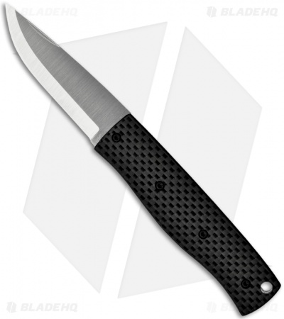 "Enzo Knives PK70 Carbon Fiber Slipjoint Pocket Knife Scandi (2.75"" Satin Plain)"