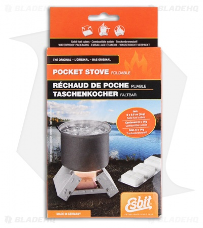 Esbit Pocket Stove w/ 6 x 14g Solid Fuel Tablets