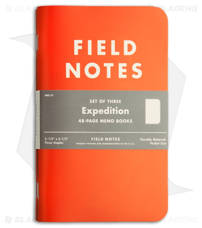Field Notes Memo Expedition 3-Pack (Orange / Black) Fnc-17 - Blade Hq