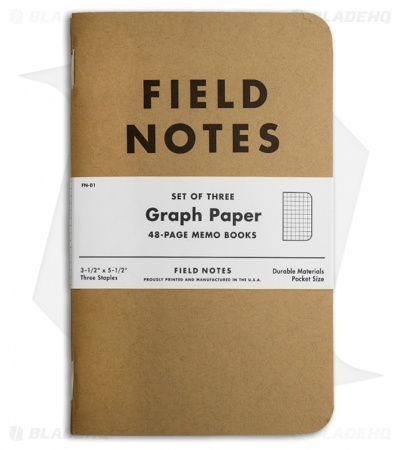 Field Notes Memo Graph 3-Pack - Original Cover - (Brown) FN-01