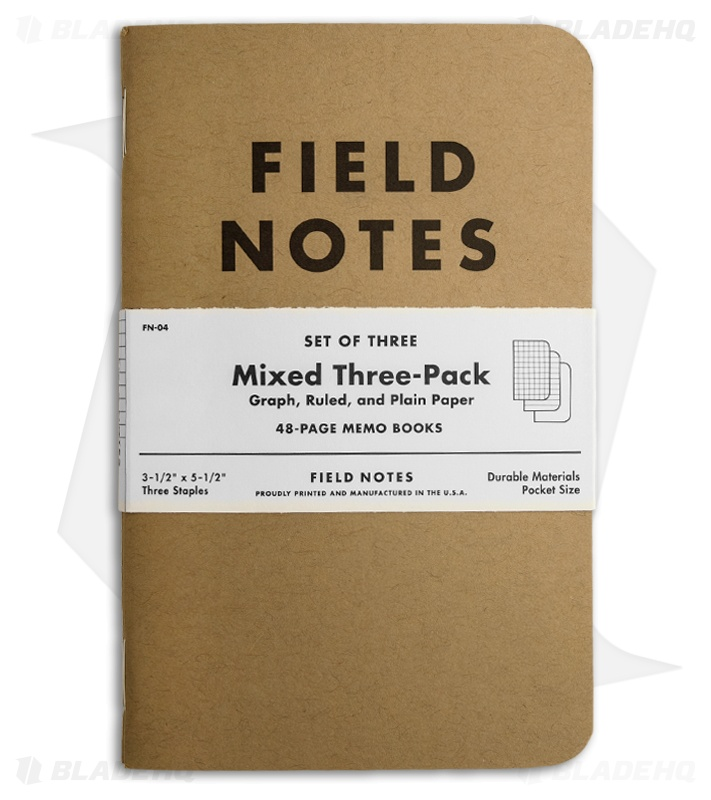 Field Notes Memo Mixed Pack  Original Cover  Brown Fn