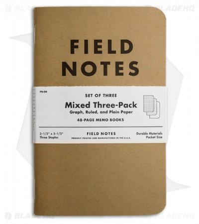 Field Notes Memo Mixed 3-Pack - Original Cover - (Brown) FN-04