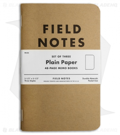 Field Notes Memo Plain 3-Pack - Original Cover - (Brown) FN-03