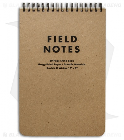 Field Notes Steno Book Gregg-Ruled - Original Cover - (Brown) FN-07