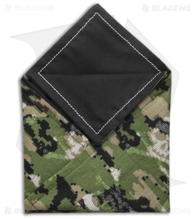 "Hanks by Hank 10"" x 10"" Handkerchief - Green Camo & Jolly Roger"