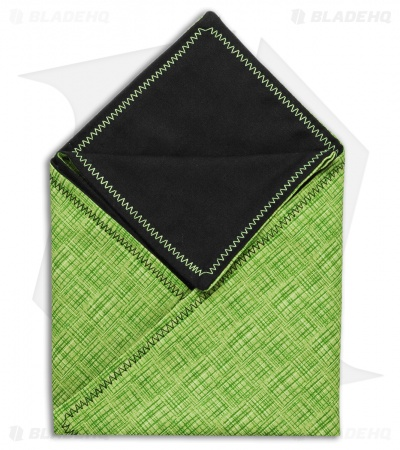 "Hanks by Hank 10"" x 10"" Handkerchief - Green Crosshatch"