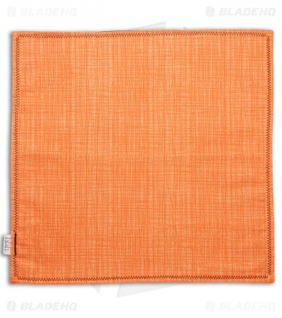 "Hanks by Hank 10"" x 10"" Handkerchief - Orange Crosshatch"