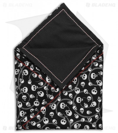 "Hanks by Hank 10"" x 10"" Handkerchief - Small Skulls"