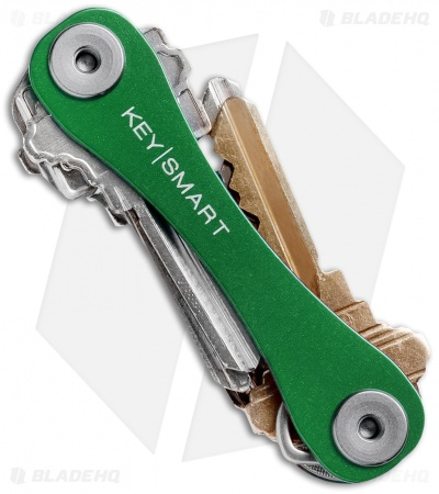 KeySmart Compact Key Holder Keychain (Green)