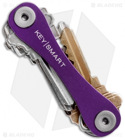 KeySmart Compact Key Holder Keychain (Purple)