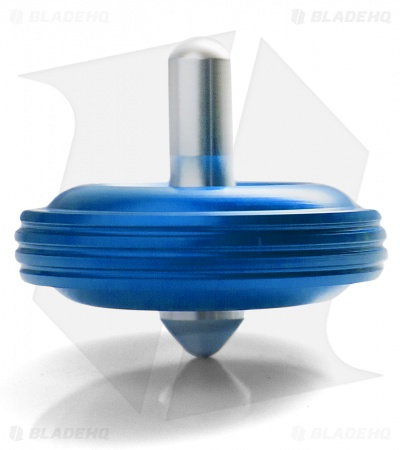 Karas Kustoms Machined Toy Spinning Top Blue (Aluminum)