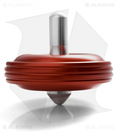 Karas Kustoms Machined Toy Spinning Top Red (Aluminum)