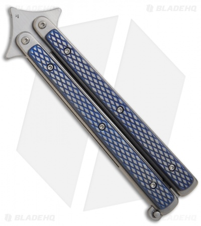 Les Voorhies Custom Knives Model 1 Balisong Butterfly Knife w/ Titanium Scales 2