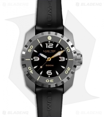 Lum-Tec 500M-1 Deep Diver Watch Custom Molded Anti-Static Rubber Strap