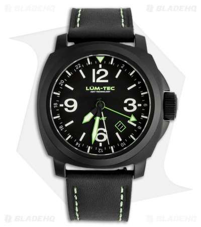 Lum-Tec M58 Luminous Swiss Quartz Men's Watch w/ PVD Coating (Green)