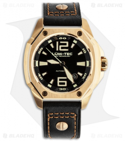 Lum-Tec V4 Phantom MVD Luminous Men's Chronograph w/ Rose Gold PVD Coating