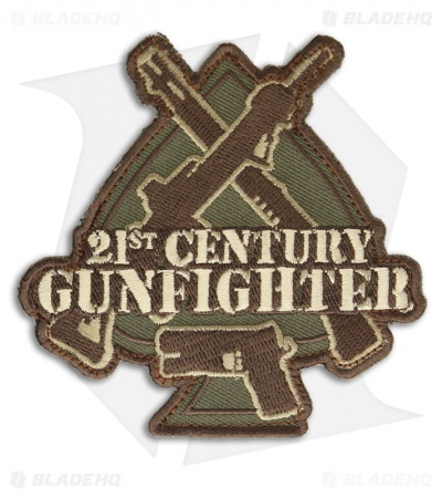 MSM 21st Century Gunfighter Hook Velcro Back Patch (Multi-Cam)