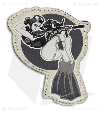 MSM Dive Girl Patch Hook Velcro Back (SWAT)