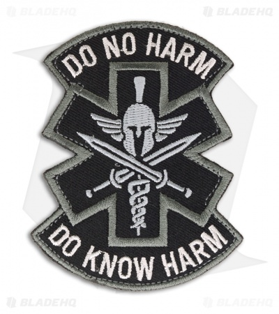 MSM Do No Harm Spartan Patch Hook Velcro Back (SWAT)