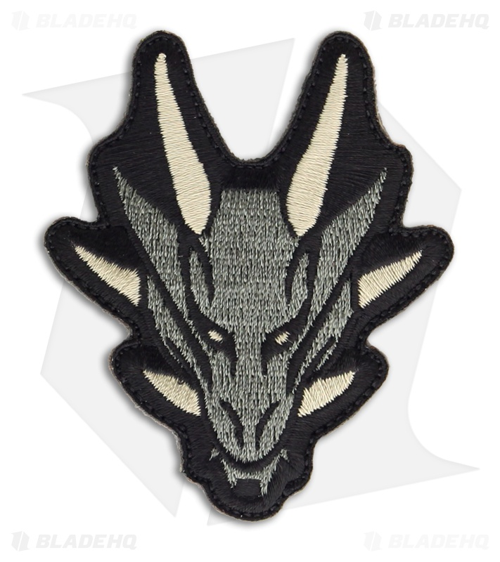 msm dragon head patch hook velcro back acu blade hq