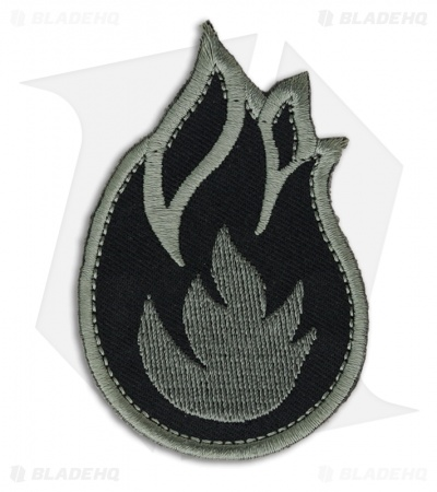 MSM Fireball Hook Velcro Back Patch (ACU-Dark)