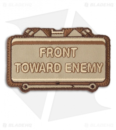 MSM Front Toward Enemy Hook Velcro Back Patch (Desert)