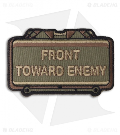 MSM Front Toward Enemy Hook Velcro Back Patch (Forest)