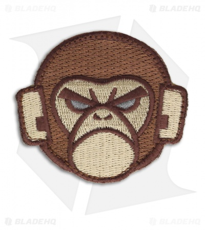 MSM Mil Spec Monkey Logo Patch Hook Velcro Back (Arid)