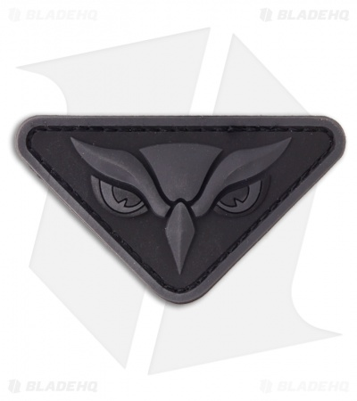 MSM Owl Head PVC Hook Velcro Back Patch (Dark Ops)