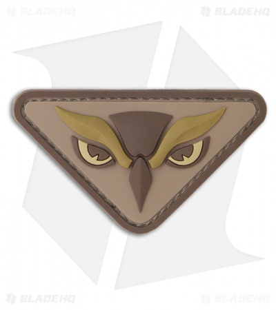 MSM Owl Head PVC Hook Velcro Back Patch (Desert)