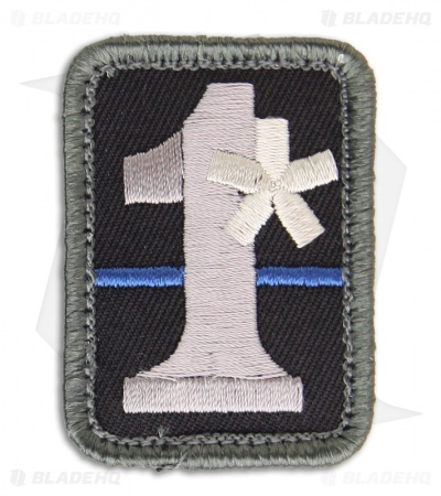 MSM 1-Assterisk Hook Velcro Back Patch (SWAT)