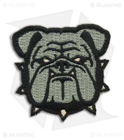 MSM Small Bulldog Head Hook Velcro Back Patch (ACU)