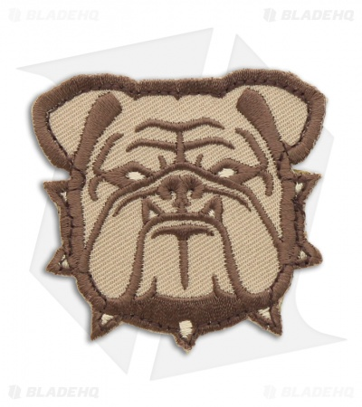 MSM Small Bulldog Head Hook Velcro Back Patch (Desert)