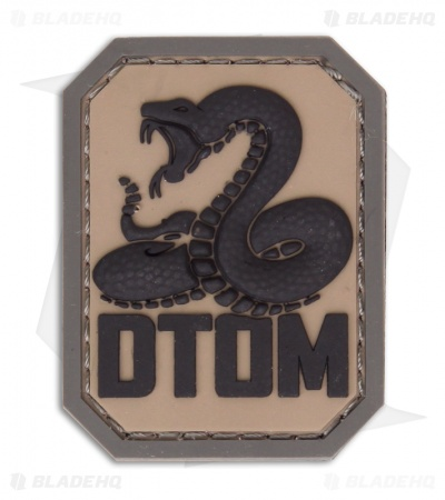 MSM DTOM PVC Hook Velcro Back Patch (ACU-Dark)