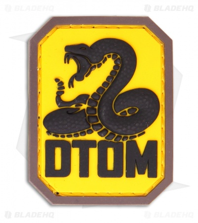MSM DTOM PVC Hook Velcro Back Patch (Full-Color)