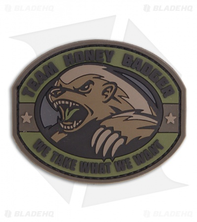 MSM Honey Badger PVC Patch Hook Velcro Back (Forest)