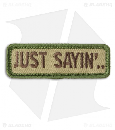 MSM Just Sayin' Hook Velcro Back Patch (Multicam)