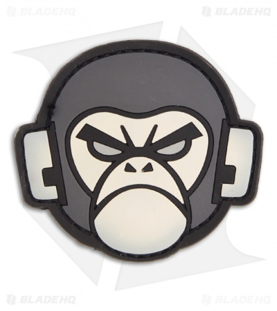 MSM Monkey Head PVC Hook Velcro Back Patch (SWAT)