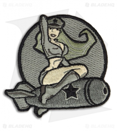 MSM Pinup Girl 1 Hook Velcro Back Patch (ACU)