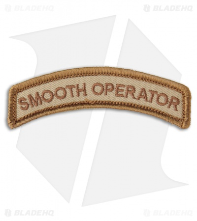 MSM Smooth Operator Hook Velcro Back Patch (Desert)