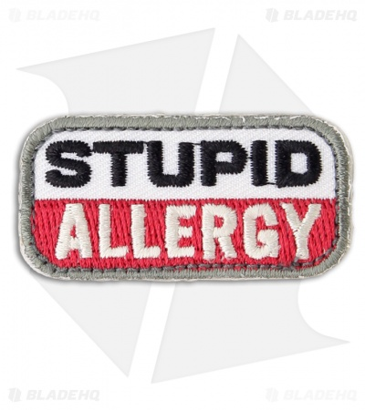 MSM Stupid Allergy Hook Velcro Back Patch (Medical)