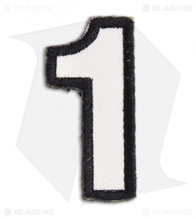 MSM Tac-Number: 1 One Hook Velcro Back Patch (SWAT)