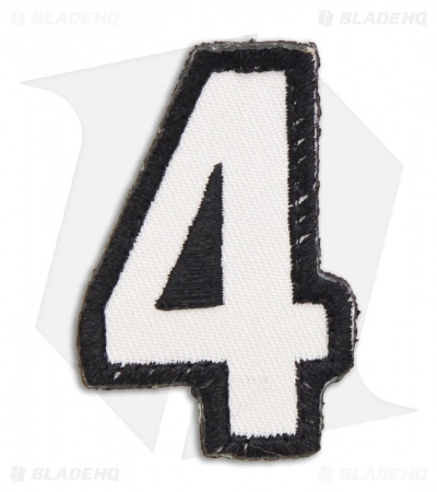 MSM Tac-Number: 4 Four Hook Velcro Back Patch (SWAT)